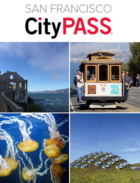 The CityPass is a booklet with actual admission tickets to all the most famous sights in San Francisco. Best of all, the CityPass means almost 50% savings on normal entry prices! PLUS the San Francisco CityPass includes free extra coupons for further savings, and is packed full with maps, insider tips and much, much more.